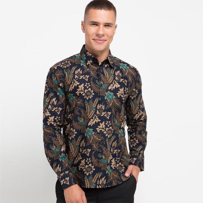 Foto Produk Enzy Batik Shirt raden Wijaya - Navy - L dari Enzy Batik