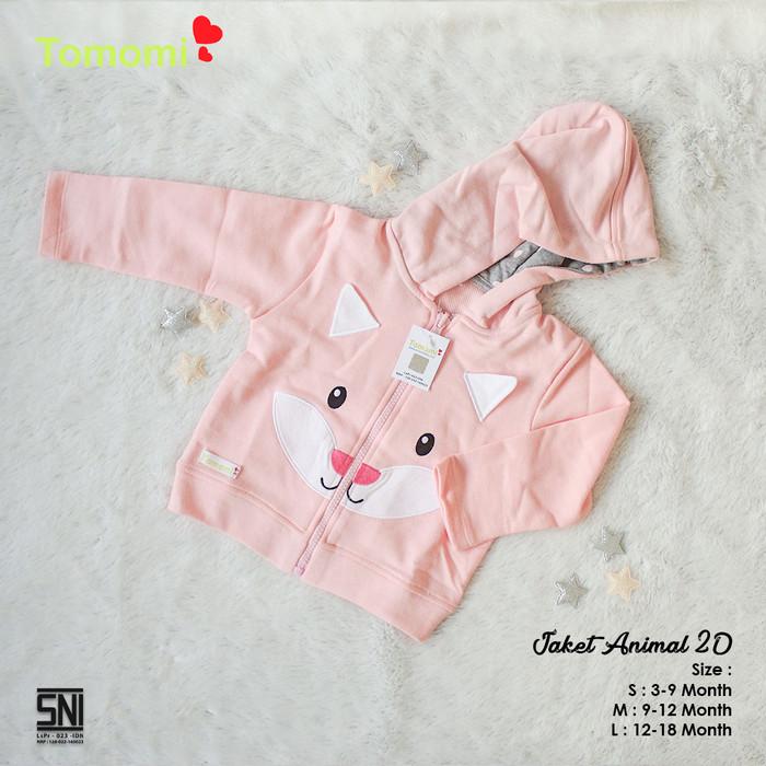Foto Produk Jaket Bayi Animal 2D - Merah Muda, 3-6 Bulan dari Tomomi Baby Wear