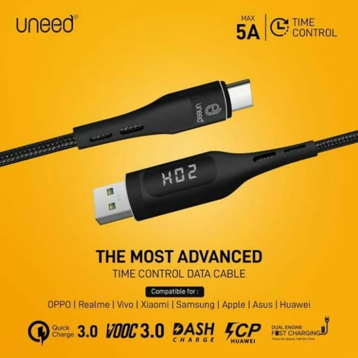 Foto Produk UNEED - Time Control Kabel VOOC, Dual Engine, QC 3.0 Mac 5A - UCB40C dari O-Store Indonesia
