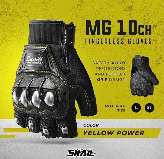 Foto Produk Glove SNAIL Half MG10CH Sarung Tangan Motor Pendek Glove Biker Sarun dari Raditya11