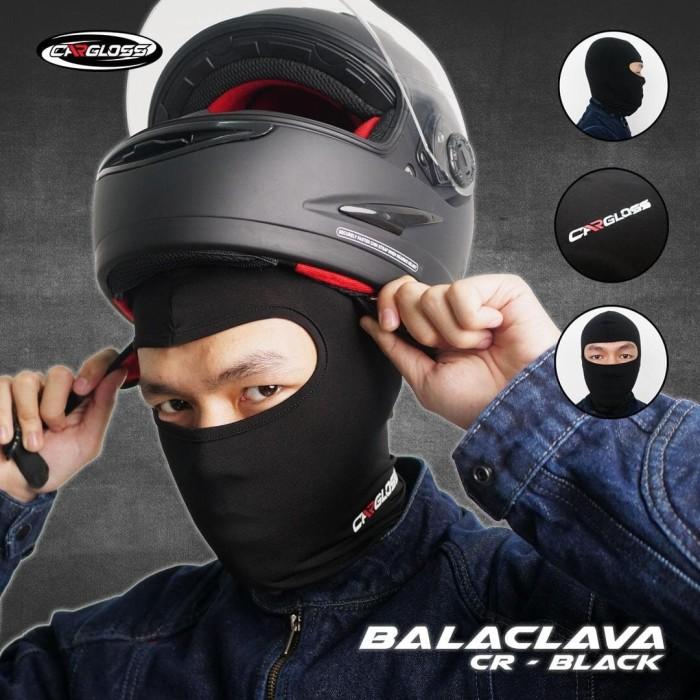 Foto Produk Cargloss BALACLAVA - all Black Full Face | Masker Balaclava dari Helm Cargloss
