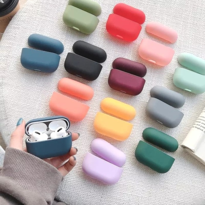 Foto Produk Airpods PRO / Airpods 3 COLORFUL Hard Case Matte Finishing dari VIWI