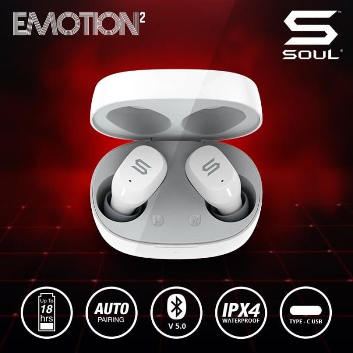 Foto Produk SOUL Emotion2 TWS Earphone Bluetooth v 5.0 Waterproof Wireless dari Soul official
