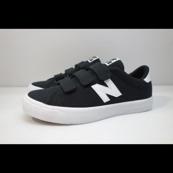 new balance black velcro sneakers