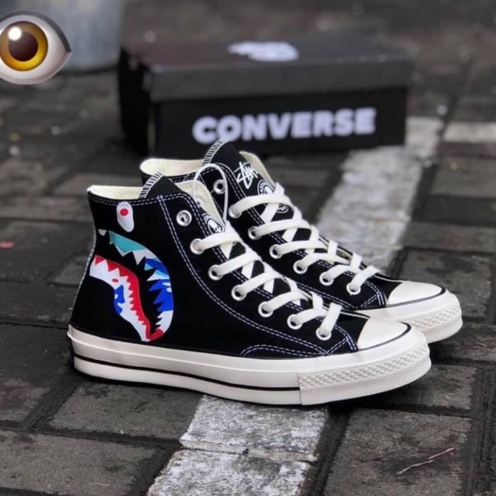 Jual Converse High X Bape Shark - Kota