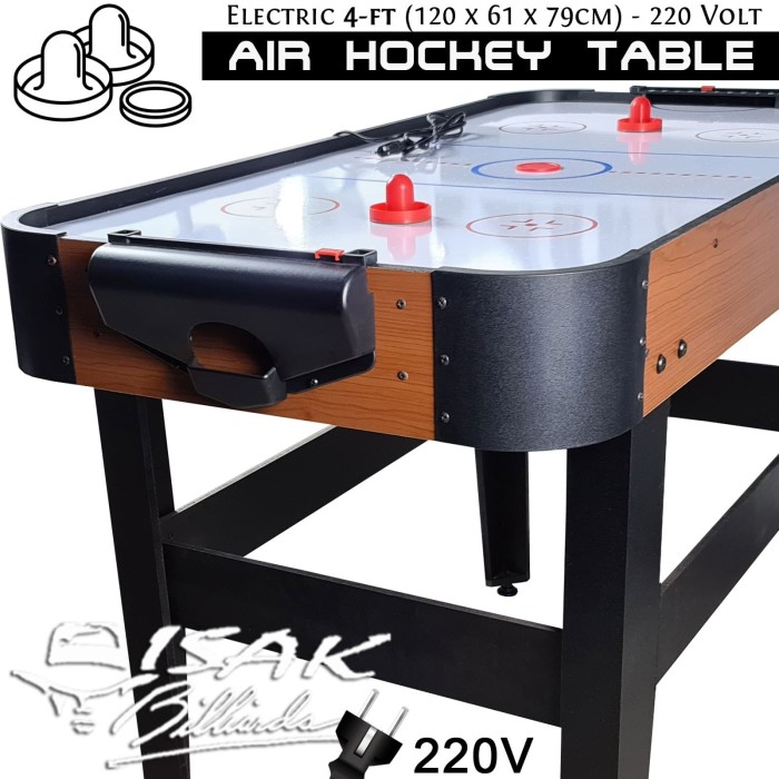 Foto Produk Electric Air Hockey Table 4-ft - Mainan Hadiah Anak Meja Arcade Brown dari ISAK Billiard Sport Co.