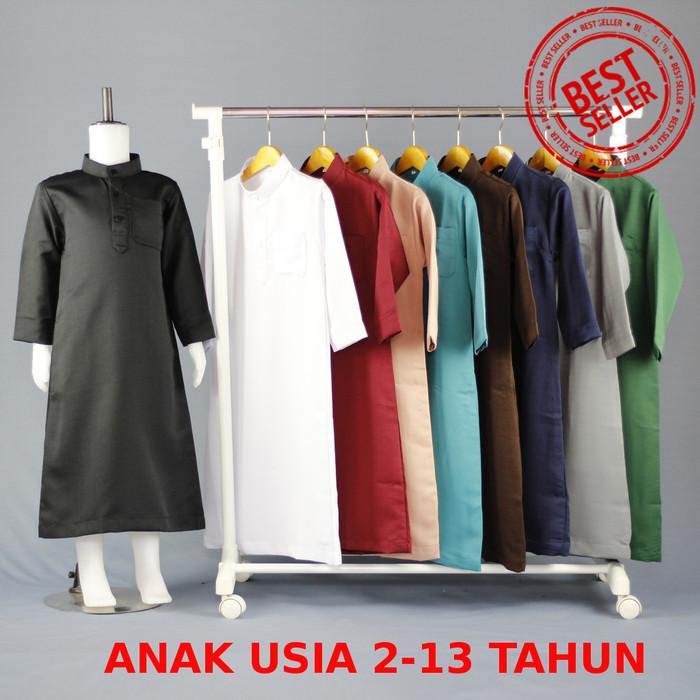 Foto Produk Jubah muslim lengan pendek - Baju Muslim Anak Laki-laki - Gamis Anak 2 - Hitam, 2-3 tahun dari chrome store