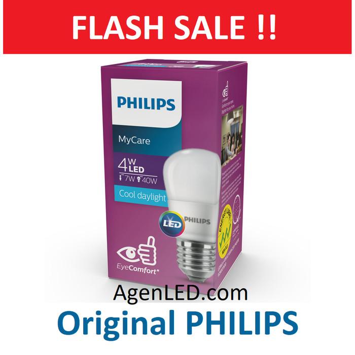 Foto Produk PHILIPS Lampu LED 4W Bulb Bohlam 4 w watt philip 4watt putih white 5 6 dari AgenLED
