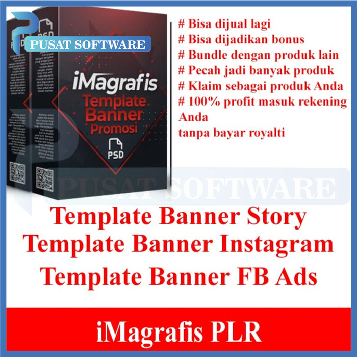 Jual Plr Imagrafiss Template Banner Promosi Kota Surabaya Pusat Software77 Tokopedia