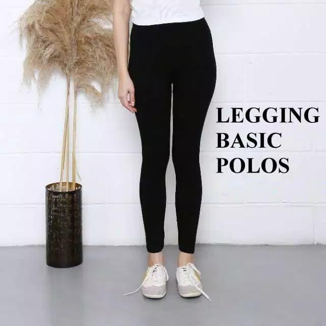 Jual Celana Legging Wanita Basic Polos 029 Hitam Kota Malang Athalea Fashion Tokopedia