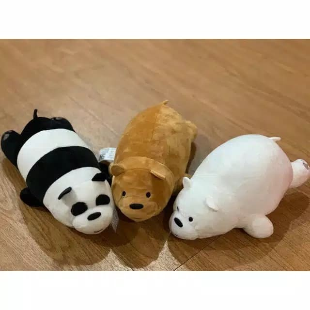 Foto Produk Boneka We bare bears Panda, Grizz version ukuran 19 Inch - Cokelat dari fluffydollsid