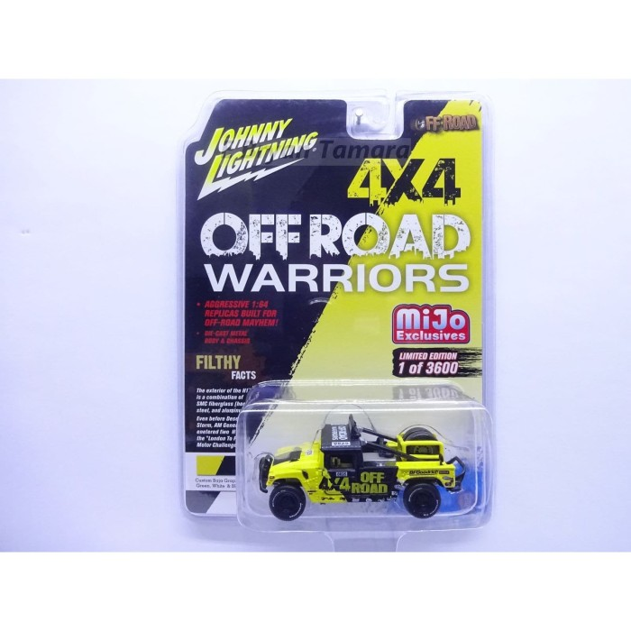 Foto Produk JOHNNY LIGHTNING OFF ROAD - Hummer H1 Race Truck Kuning dari Bryan Toys Shop
