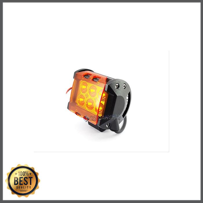 Foto Produk Super Murah - Mika Kuning Lampu Tembak Sorot LED Cree 18W 6 Mata LED dari desi part racing
