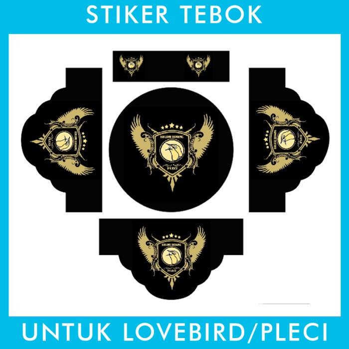 Foto Produk Stiker Tebok Lovebird Single Fighter pleci Ebod Sazime PVC dari Supplier Kaos Custom