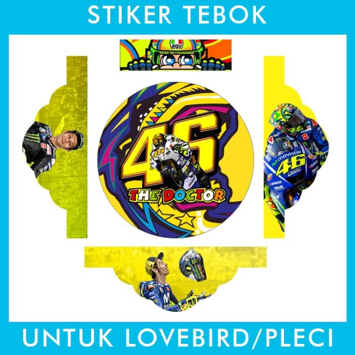 Foto Produk Stiker Tebok Lovebird Rossi pleci Ebod Sazime PVC dari Supplier Kaos Custom