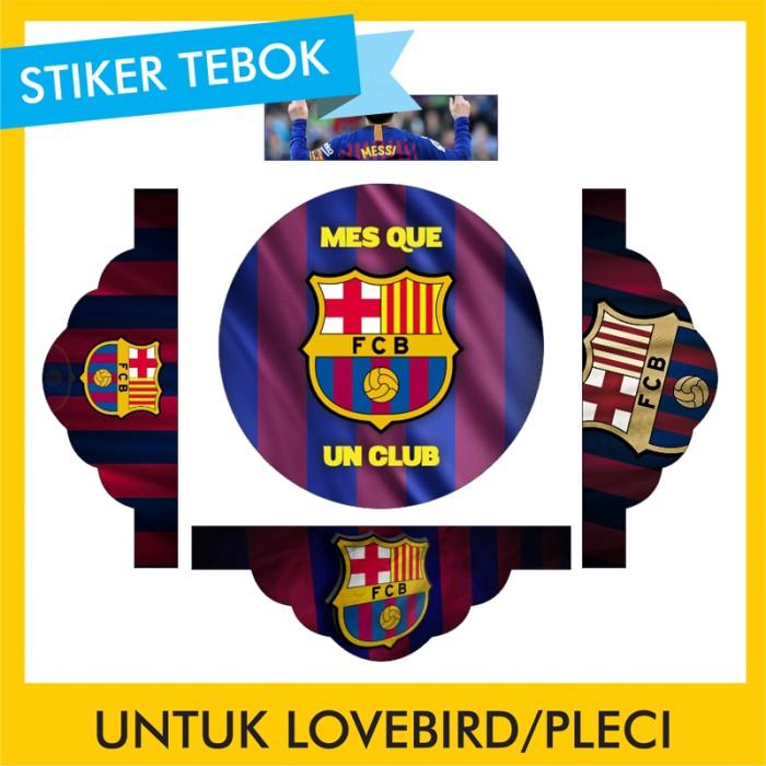 Foto Produk Stiker Tebok Lovebird Barcelona pleci Ebod Sazime PVC dari Supplier Kaos Custom