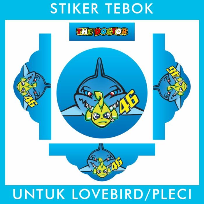 Foto Produk Stiker Tebok Lovebird Rossi 46 pleci Ebod Sazime PVC dari Supplier Kaos Custom