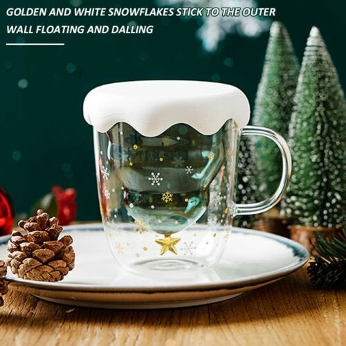 Jual Christmas Tree Star Wishing Cup Double Wall Glass Latte Coffee Mug Kota Bandung D Umbas Tokopedia