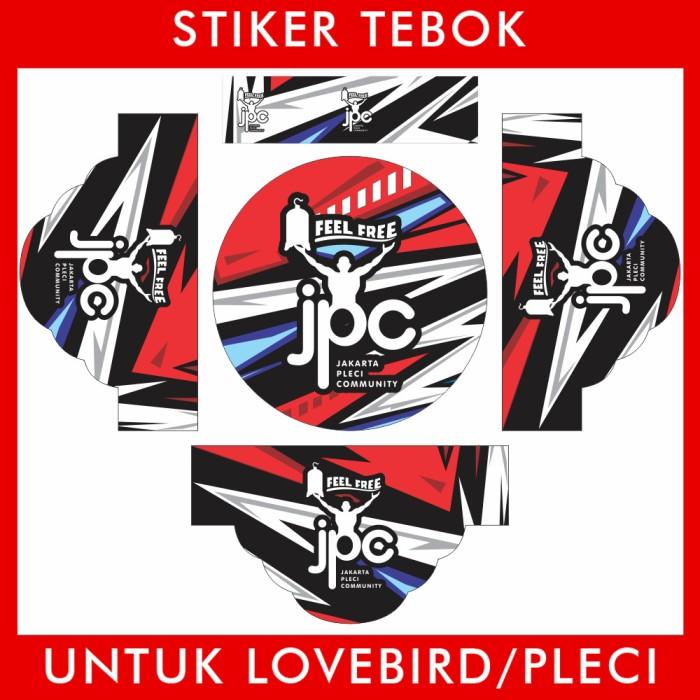 Foto Produk Stiker Tebok Lovebird JPC pleci Ebod Sazime PVC dari Supplier Kaos Custom