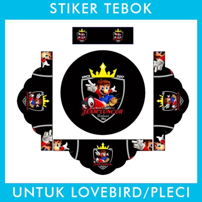 Foto Produk Stiker Tebok Lovebird Mario Bros pleci Ebod Sazime PVC dari Supplier Kaos Custom