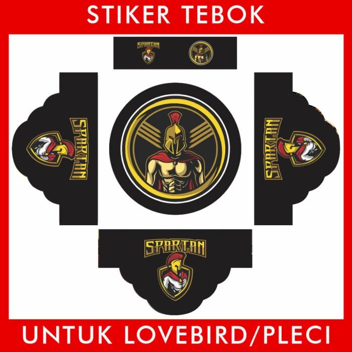 Foto Produk Stiker Tebok Lovebird Spartan pleci Ebod Sazime PVC dari Supplier Kaos Custom