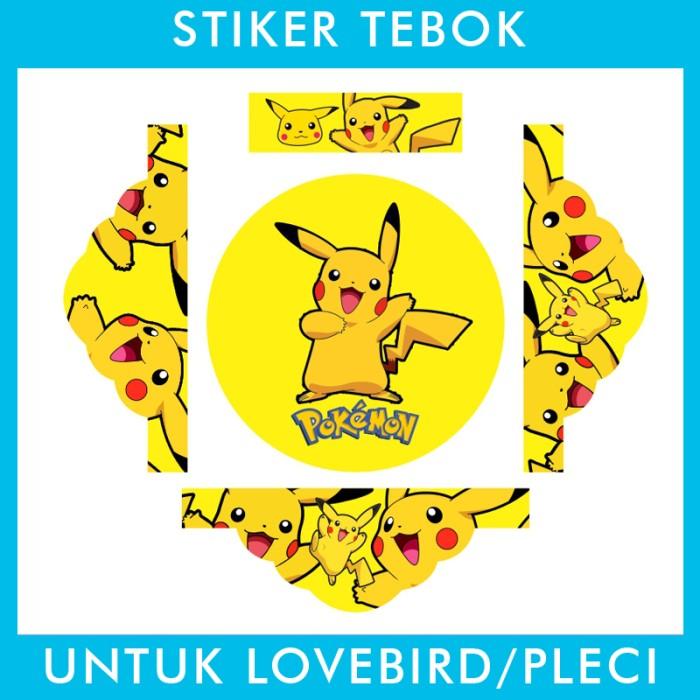 Foto Produk Stiker Tebok Lovebird Pikachu Pokemon pleci Ebod Sazime PVC dari Supplier Kaos Custom