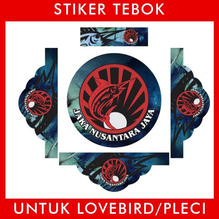 Foto Produk Stiker Tebok Lovebird Ikan 2 pleci Ebod Sazime PVC dari Supplier Kaos Custom