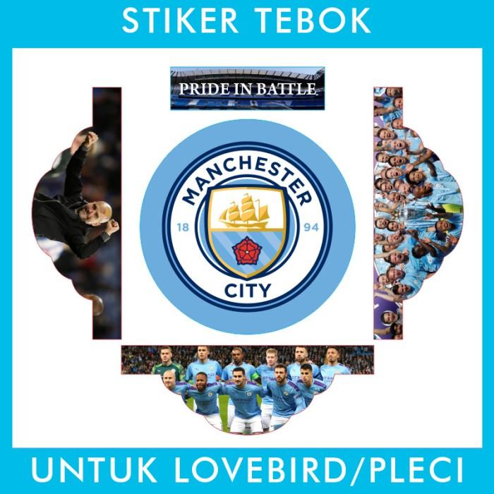 Foto Produk Stiker Tebok Lovebird Manchester City pleci Ebod Sazime PVC dari Supplier Kaos Custom
