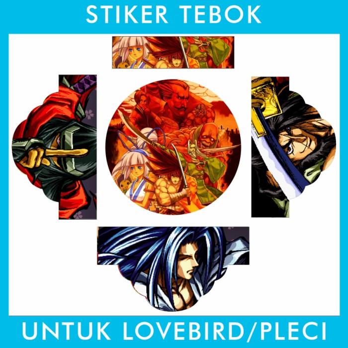 Foto Produk Stiker Tebok Lovebird Samurai Shodown Bandit pleci Ebod Sazime PVC dari Supplier Kaos Custom