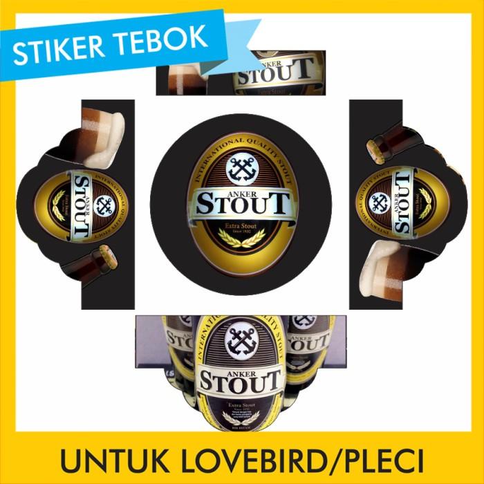 Foto Produk Stiker Tebok Lovebird Anker pleci Ebod Sazime PVC dari Supplier Kaos Custom