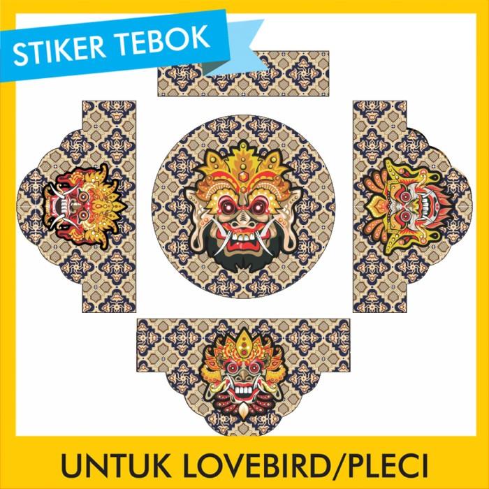 Foto Produk Stiker Tebok Lovebird Barong pleci Ebod Sazime PVC dari Supplier Kaos Custom