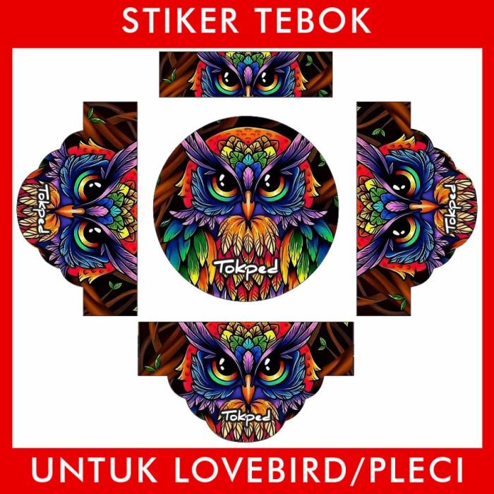 Foto Produk Stiker Tebok Lovebird Owl Burung Hantu pleci Ebod Sazime PVC dari Supplier Kaos Custom