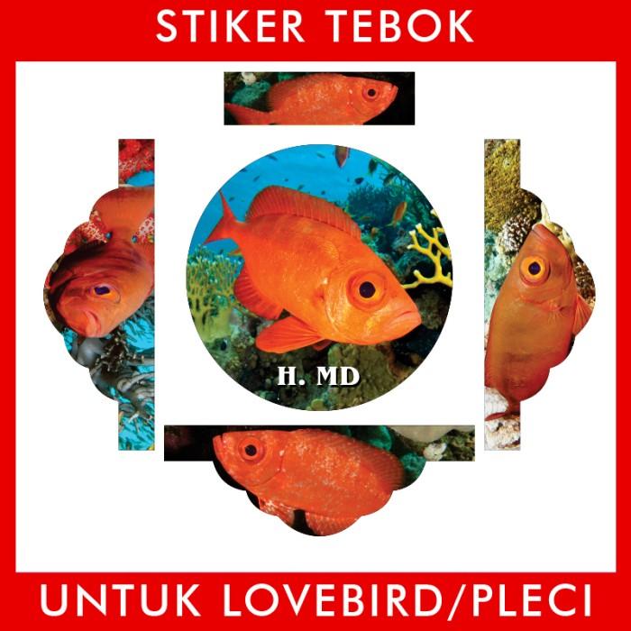 Foto Produk Stiker Tebok Lovebird Ikan pleci Ebod Sazime PVC dari Supplier Kaos Custom