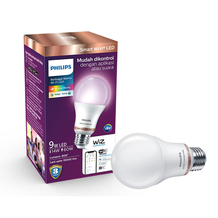 Foto Produk Philips Lampu Smart WiFi LED 9W - Color and Tunable White (Warna) dari Philips Lighting ID