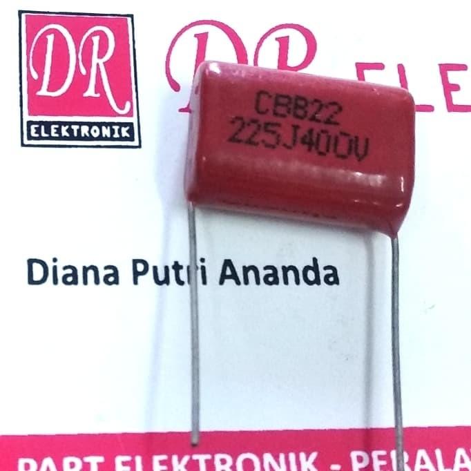 Foto Produk Milar mylar Kapasitor Capasitor 225j 225 2200nF 2,2uf 400 volt 400v dari DR ELEKTRONIK DEPOK