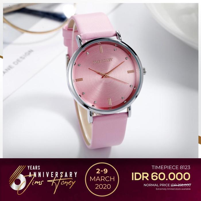 Foto Produk Jims Honey - Jam Tangan Wanita Kode 8123 Jam Tangan Best Seller - Merah Muda dari JIMS HONEY OFFICIAL