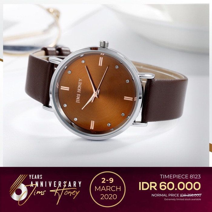 Foto Produk Jims Honey - Jam Tangan Wanita Kode 8123 Jam Tangan Best Seller - Cokelat dari JIMS HONEY OFFICIAL