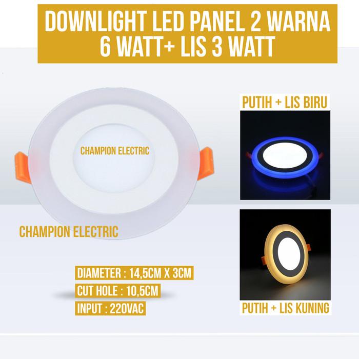 Foto Produk Lampu Downlight LED 2 Warna 6W Putih 3 Watt Lis - Kuning dari Champion Electric