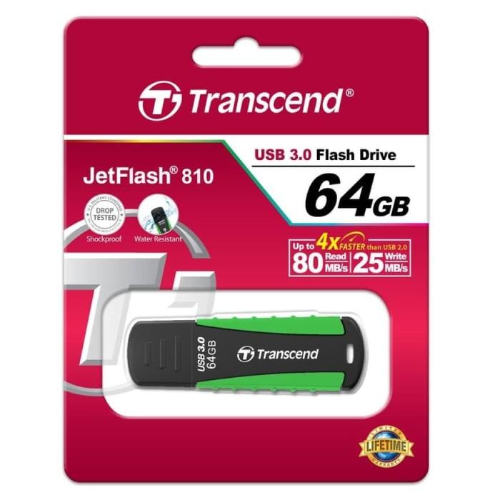 Foto Produk Transcend Flash Drive 3.0 64GB Rugged - TS64GJF810 dari Julyaugustshop