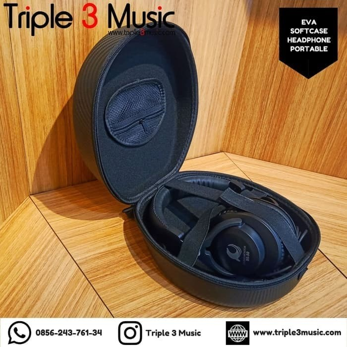 Foto Produk Dolphin Sound ISK DS50 DS-50 Headphone monitor Flat Closed + softcase dari triple3music