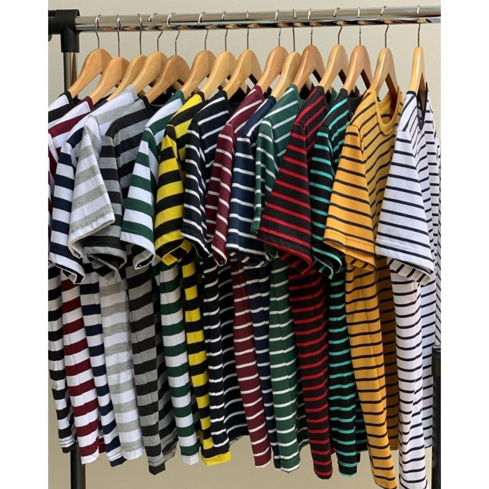 Foto Produk TERMURAHHH !!!! Kaos Stripe Kaos Pria Kaos Belang-belang Kaos Salur dari Marcorp
