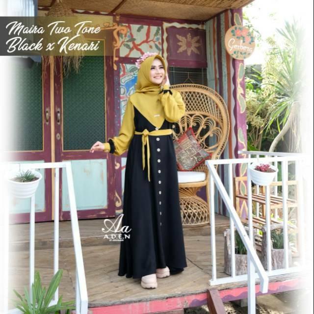 Jual Gamis Maira Two Tone A D E N Hijab Jakarta Pusat Rancaknet Tokopedia
