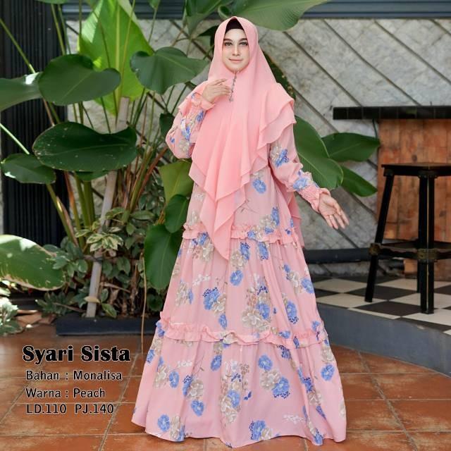 Jual Humaira99 Gamis Syari Home Dress Motif Bunga2 Maxi Busui Set Khimar Jakarta Pusat Rancaknet Tokopedia