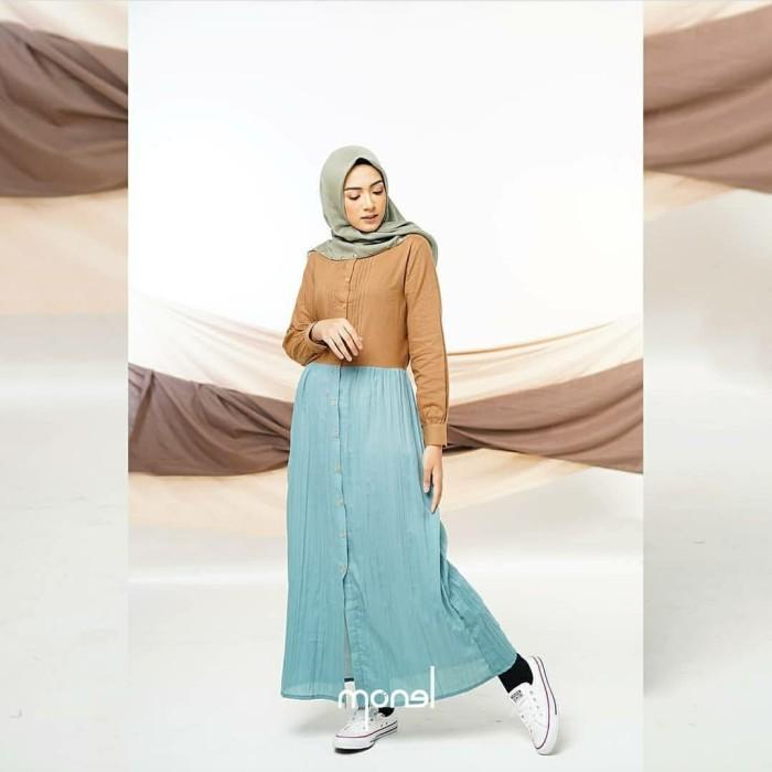 Jual Gamis Casual Dress Lady Pleats Aqua By Monel Kota Bekasi Jasmine2012 Tokopedia