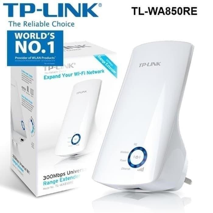 Foto Produk TP-LINK 300Mbps Universal WIFI Range Extender TL-WA850RE-White dari Inti Sukses