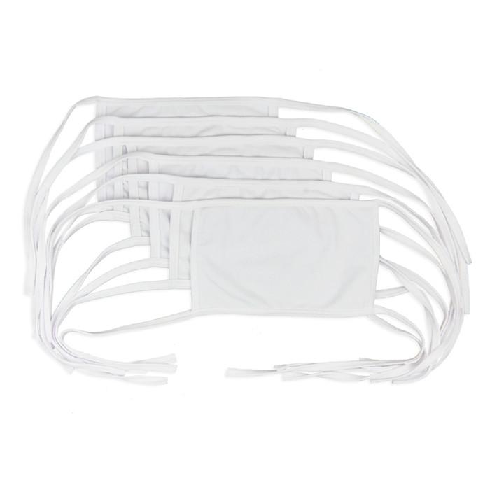 Foto Produk Flyman Masker Kain Katun 6 PCS Cotton Mask MSK 3352 - Putih dari Flyman Nathalie Store