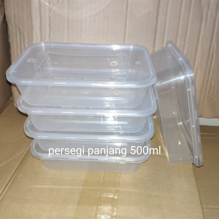 Foto Produk KOTAK MAKAN PANJANG 500ML - BOX THINWALL FOOD CONTAINER - ISI 25PCS dari BCA AKSESORIS