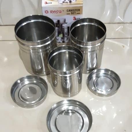 Foto Produk Tempat Bumbu dapur, Kopi, Teh, Gula Dll/Canister Rosh Set isi 3pcs dari SerbAda_Shop
