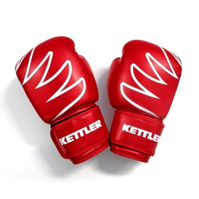 Foto Produk Leather Boxing Gloves KETTLER Red / Sarung Tinju KETTLER - ORIGINAL - 10oz dari DNA Sport & Music