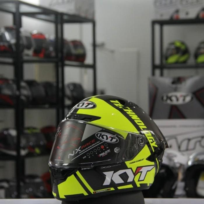 Foto Produk Helm KYT NX - Race Carbon Race D Yellow - XL dari duniamotorcom-DM